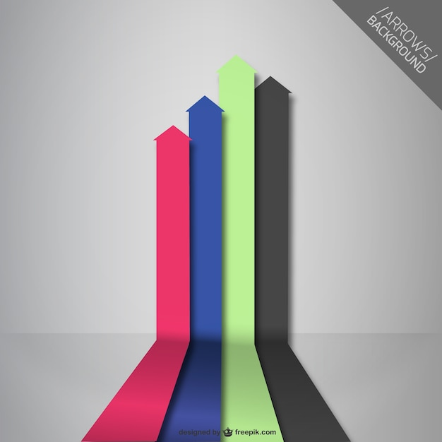Abstract arrows background illustration Free Vector