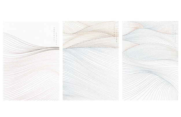 선 패턴으로 추상 미술 배경 프리미엄 벡터