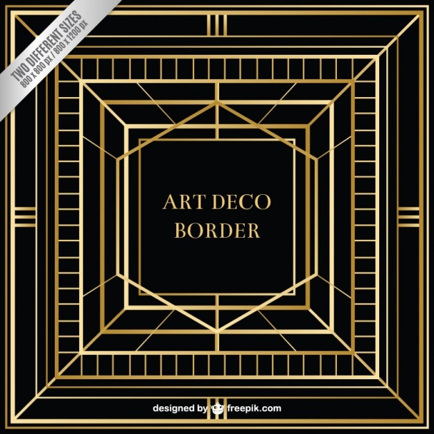 Abstract art deco background vector free download for What is art deco