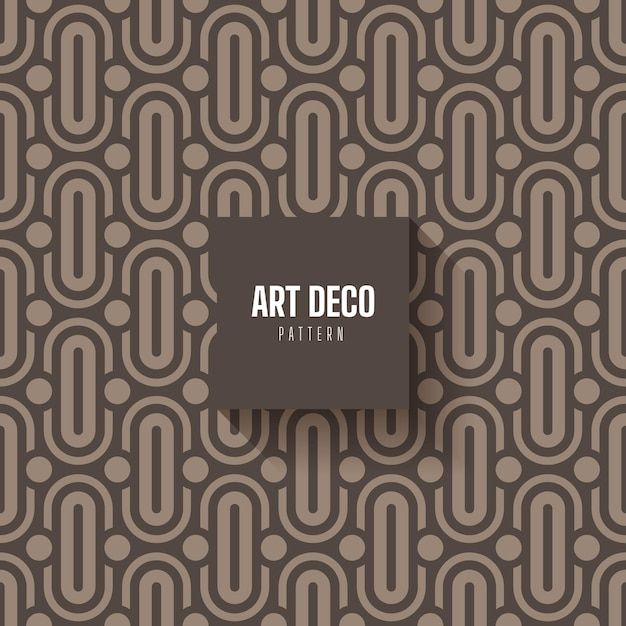 Abstract art deco pattern Free Vector