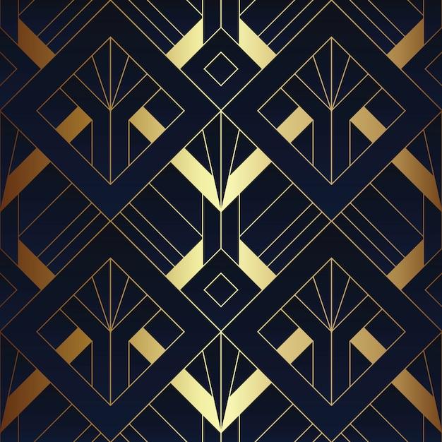 Abstract art deco seamless pattern Premium Vector