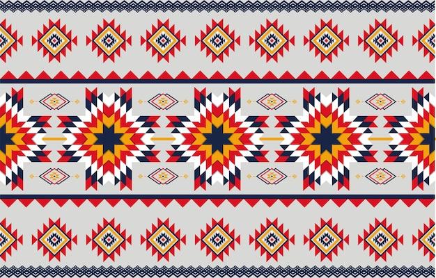 シームレスな抽象芸術の幾何学的なネイティブパターン。幾何学的な背景を繰り返します。 Premiumベクター