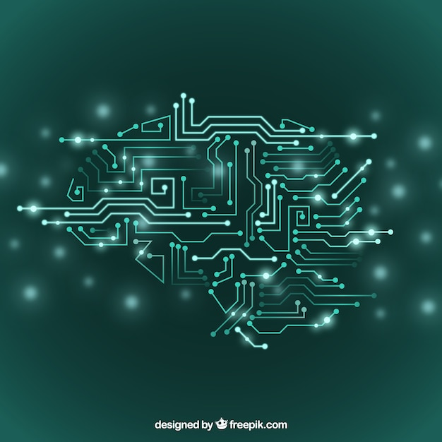Abstract artificial intelligence background Free Vector