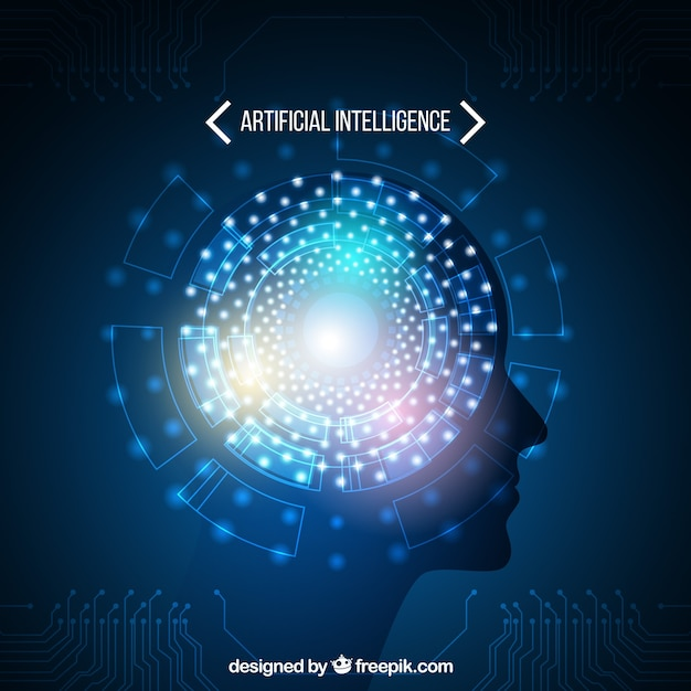 Abstract artificial intelligence template Free Vector
