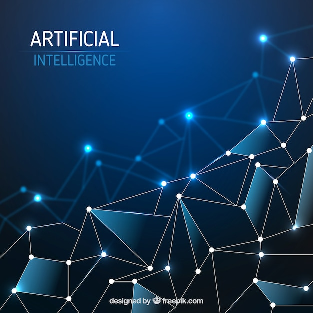 Abstract Artificial Intelligence Template Vector Free