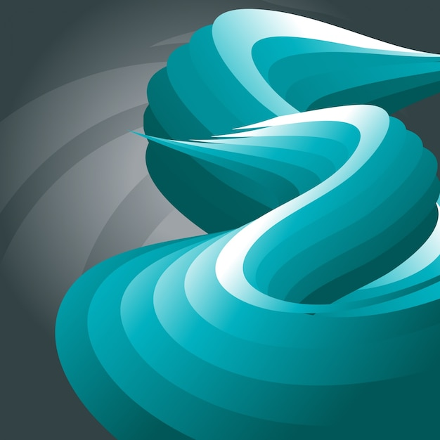 Abstract artistic wave design
