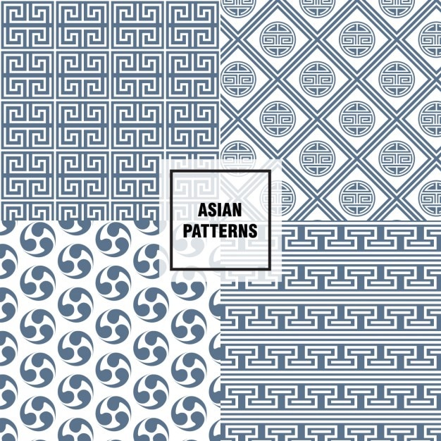 Abstract Asian Patterns Vector Free Download Inspiration Asian Patterns