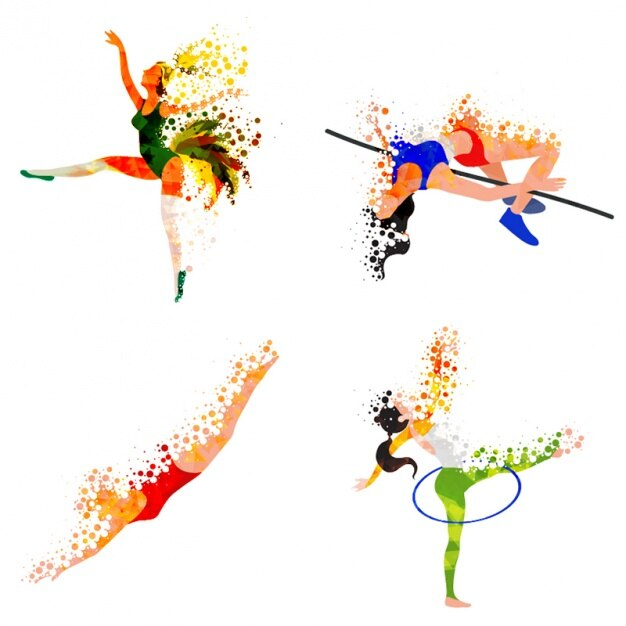 Abstract athletes practising different sports Vector | Premium ...