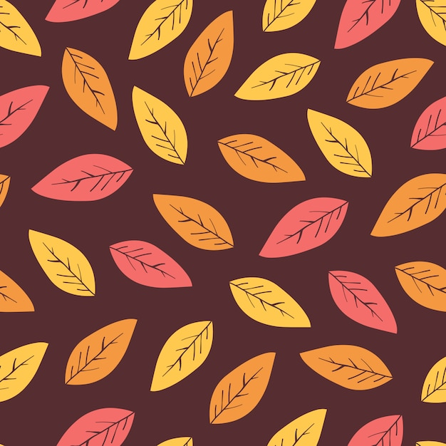 Abstract autumn background with leaves. Premium Vector