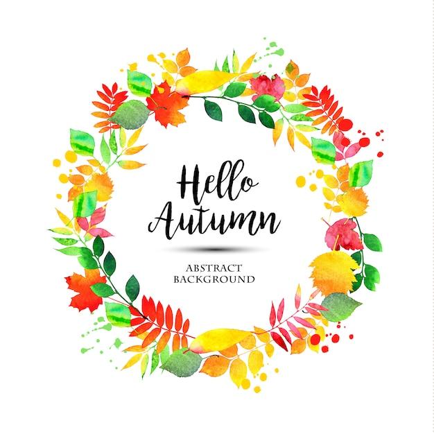 Abstract autumn illustration Free Vector