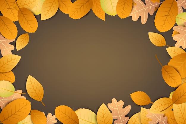 Абстрактный фон осенний сухой лист, падающий на коричневый фон Premium векторы