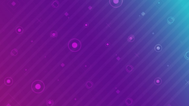 Abstract background basic geometric on colorful neon background Premium Vector