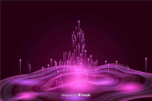 Abstract background big data concept Free Vector