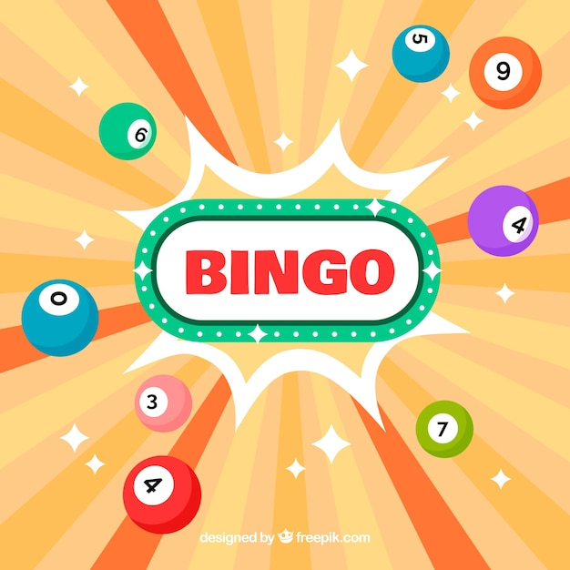 Abstract background of bingo balls Free Vector