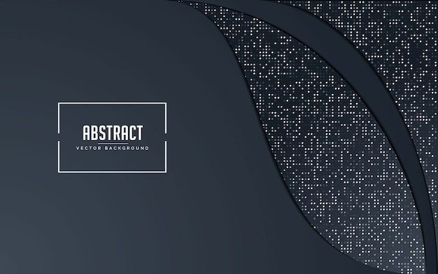 Abstract background black and grey with glitters silver Premium Vector