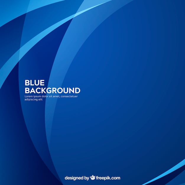 Abstract background in blue color Free Vector