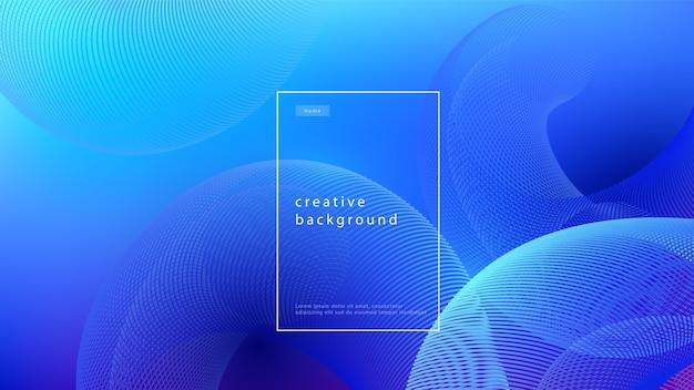 Абстрактный фон синий дизайн. градиент потока жидкости с геометрическими линиями и световым эффектом. минимальная концепция движения. Бесплатные векторы