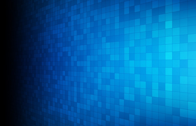 Abstract background of blue glowing rectangle square Premium Vector