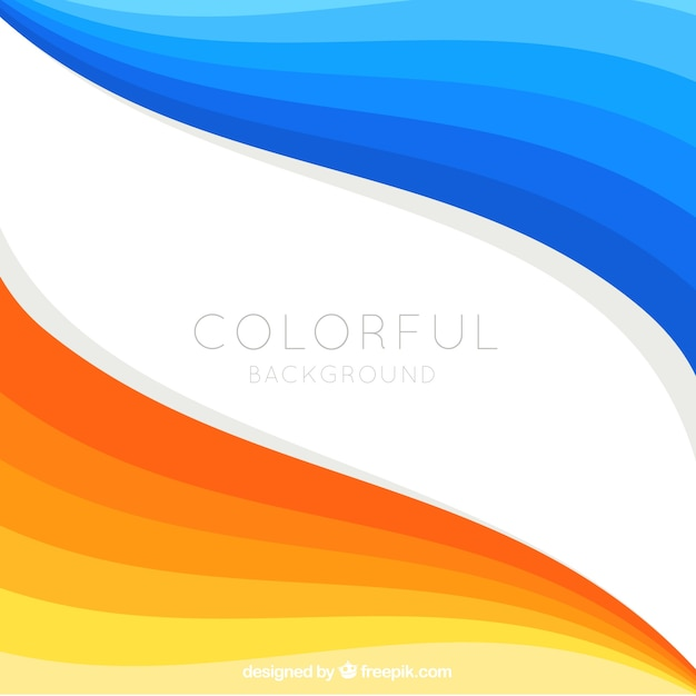 Background abstract blue and orange wave text Vector Image |Orange And Blue Vector Background