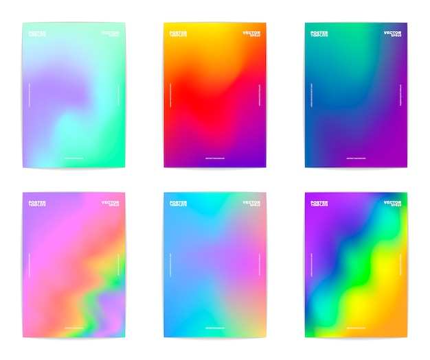 Abstract background collection Premium Vector