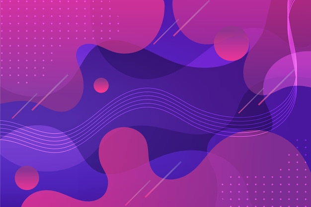 Абстрактный фон кривых и точек Бесплатные векторы