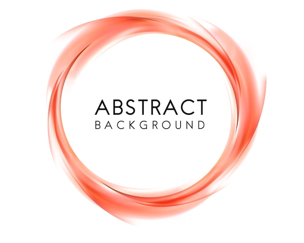 Abstract background design in orange Free Vector