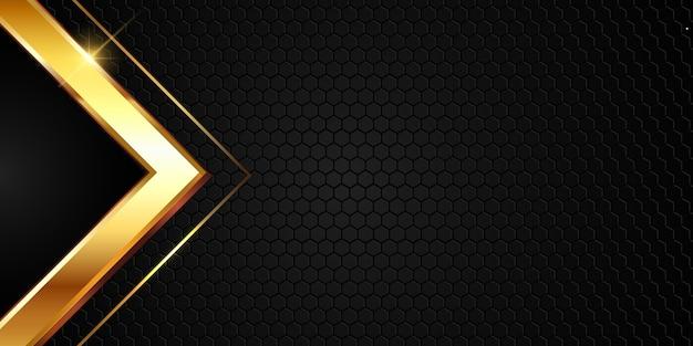 Абстрактный дизайн фона с золотой металлической формы Бесплатные векторы