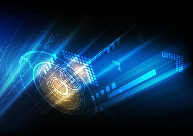 Abstract background digital communication technology ...