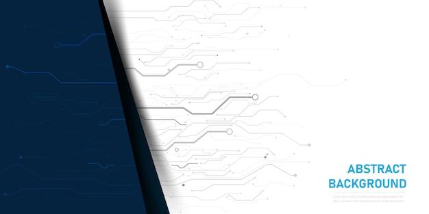 Абстрактный фон электронной печатной платы Premium векторы