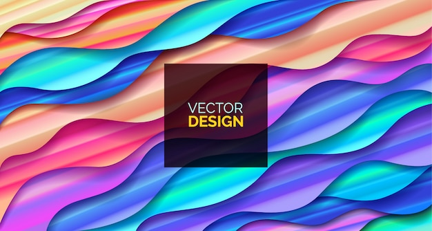 Abstract background fluid geometric design with liquids and shapes. Premium Vector