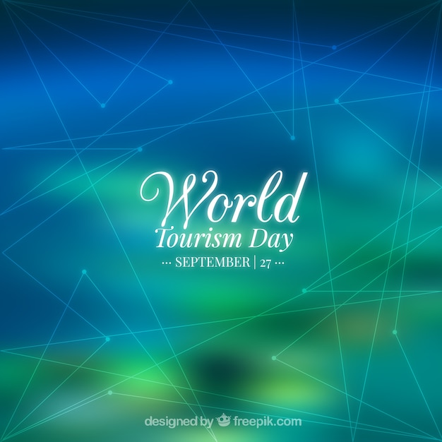 Abstract background for world tourism day