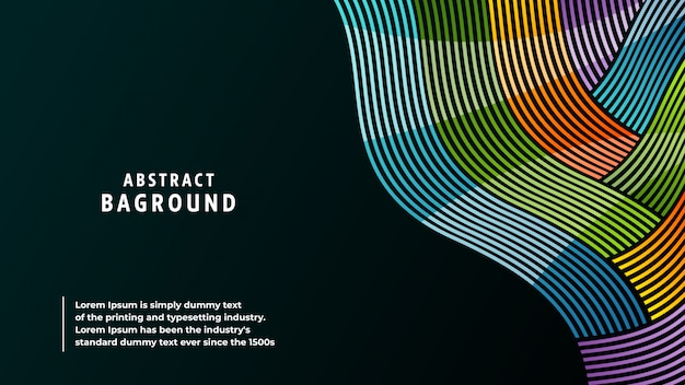 Abstract background full colors and lines in a beautiful combination. Premium Vector