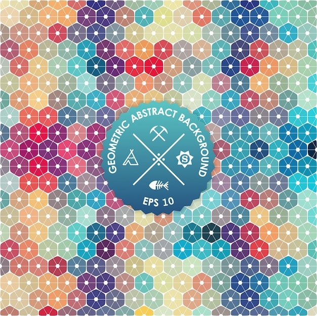 Abstract Background Geometric Design Vector Illustration