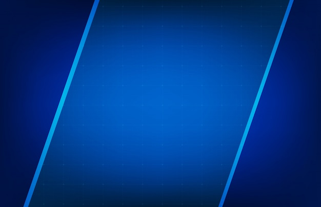 Abstract background of glowing blue frame ui hud display Premium Vector