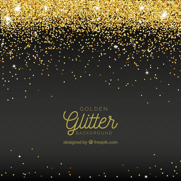 Abstract background of golden glitter Free Vector
