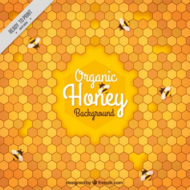Abstract background of honeycomb Free Vector