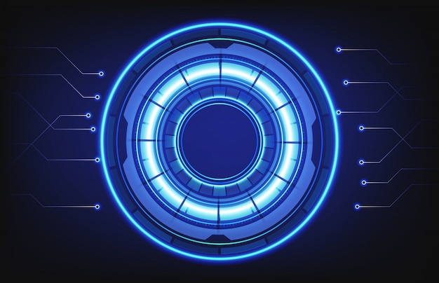 Abstract background of hud technology intelligent interface connection hole Premium Vector