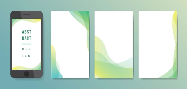 Abstract background illustration set Free Vector