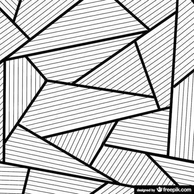 Abstract Line Art : Abstract background in black and white vector free download