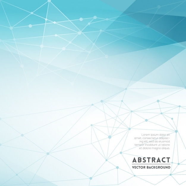 Abstract background in blue tones with polygonal figures Free Vector