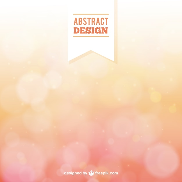 Abstract background in bokeh style Free Vector