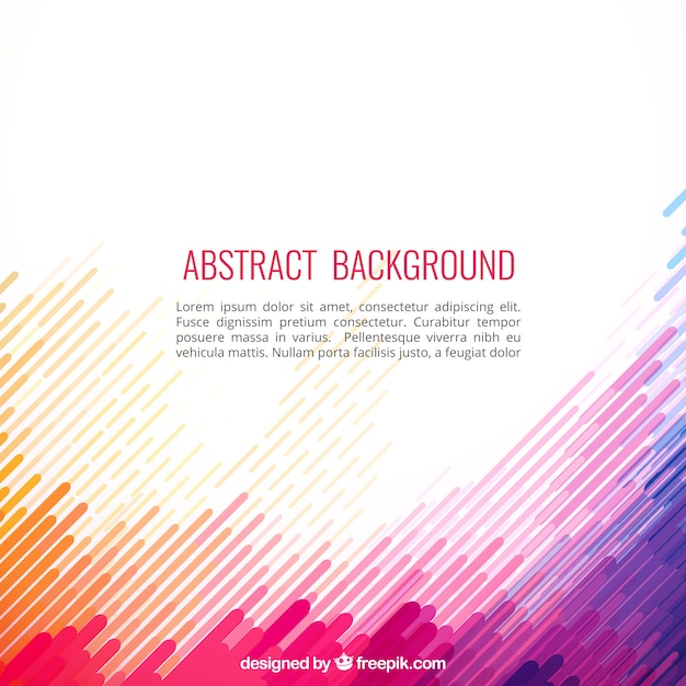 Abstract background in colorful style Free Vector