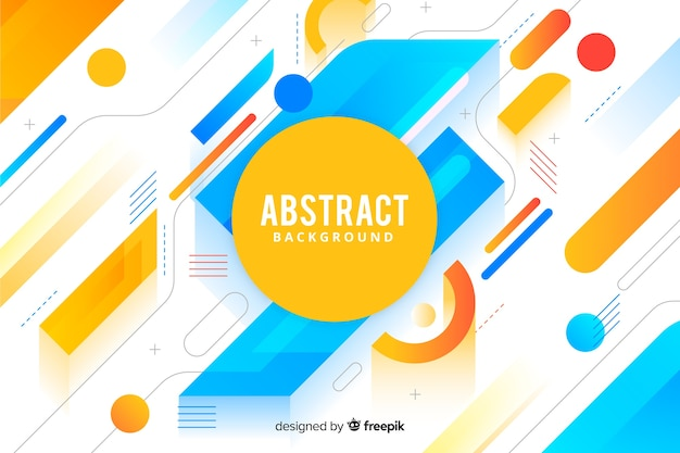 Abstract background in memphis style Free Vector