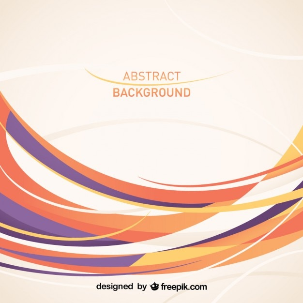 Vector Drawing Lines : Abstract background in purple and orange tones vector