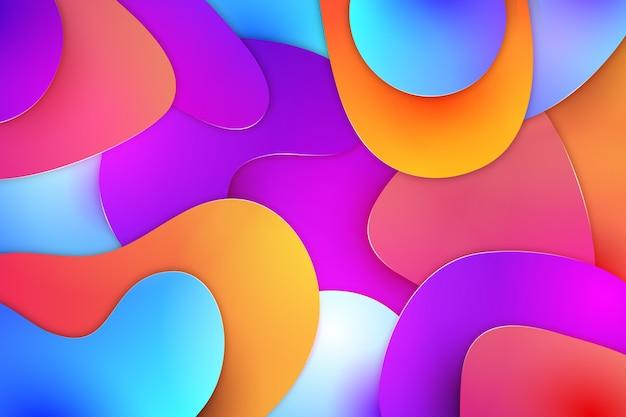 Абстрактные фоновые слои цветов Бесплатные векторы
