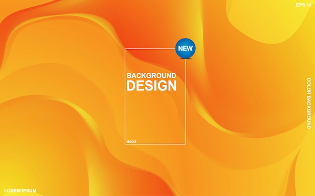 Abstract background liquid theme with orange sunsite color. modern minimal eps 10 Premium Vector