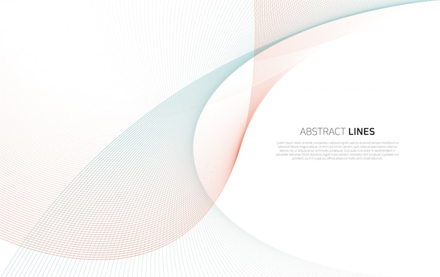 Abstract background of luxury color lines Premium Vector