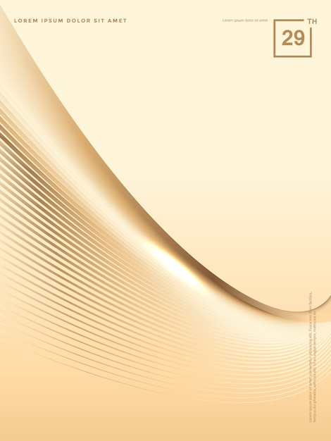 Abstract background of luxury gold lines, brochure background Premium Vector