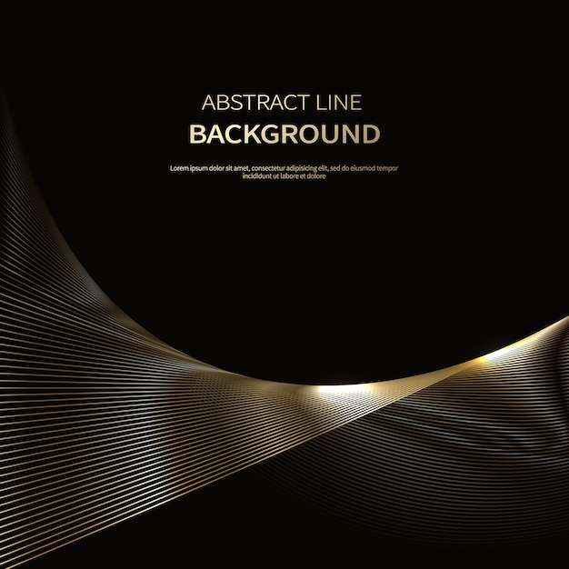 Abstract background of luxury gold lines Premium Vector