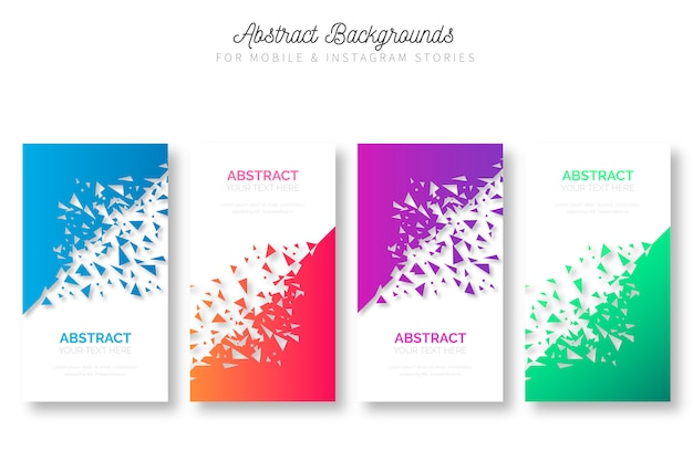 Abstract background for mobile & instagram stories Free Vector